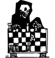 Chess and Death vector image
