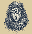 Hipster lion vector image