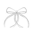 ribbon bow ballet decoration ornament vector image