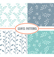 Set of four seamless patterns with spring Leaf It vector image