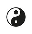 yin yang icon on white background vector image