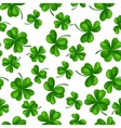 Saint Patricks Day seamless pattern Green clover vector image