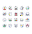 human resources colored line icons set 2 vector image