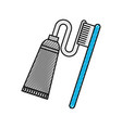dental toothbrush with paste vector image