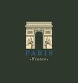triumphal arch in paris france image