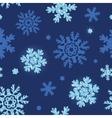glitter snowflakes dark seamless pattern vector image