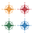 colourful compasses vector image vector image