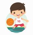 boy playing basketball vector image