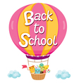 Back To School With Character On Balloon vector image