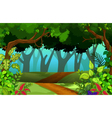 beautiful forest for you design vector image