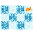 Bubble checkerboard vector image