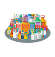 Flat accessories for cleaning company vector image