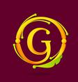 G letter monogram design elements vector image