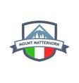 italian mount matterhorn vector image