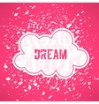 red dream inspirational background Cute vector image