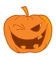 Halloween Pumpkin Winking vector image