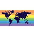 Homosexual world vector image vector image