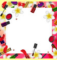 decorative cosmetics beauty store vector image vector image