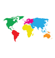 colourful world map vector image vector image