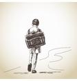 Hand drawn schoolboy vector image