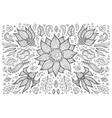 hand drawn vintage floral retro vector image