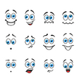 Smiles with emotions vector image vector image