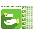 Money Payment Icon and Medical Longshadow Icon Set vector image