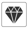 Diamond icon 2 vector image
