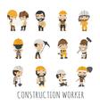 Industrial contractors workers people eps10 vect vector image