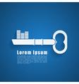 key logo 2 vector image
