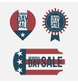 Memorial Day Sale design Elements Set vector image