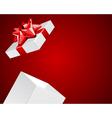 Open gift present vector image