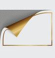 page curl with shadow on a blank sheet of paper vector image