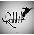 Rabbit Calligraphic elements vector image