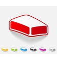 realistic design element soap vector image