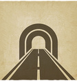 road through tunnel old background vector image