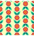Seamless floral pattern with leaves and flowers vector image