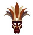 Tribal mask on a white background vector image