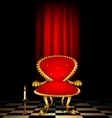 red chair and candle vector image vector image