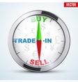 Compass for forex trader vector image