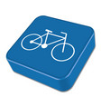 bicycle bike icon vector image