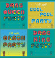 invitations to party vintage artistic font vector image