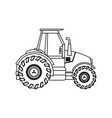 tractor vehicle agricultural farm machine vector image