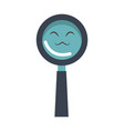 kawaii magnifier search glass cartoon vector image