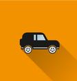 Car icon 5 long shadow vector image