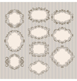 abstract frames lines vector image vector image