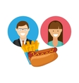 delicious fast food vector image