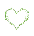 Fresh Bonsai Branches Forming in Heart Shape vector image