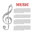 Music infographic template with treble clef vector image