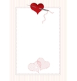 border with hearts vector image